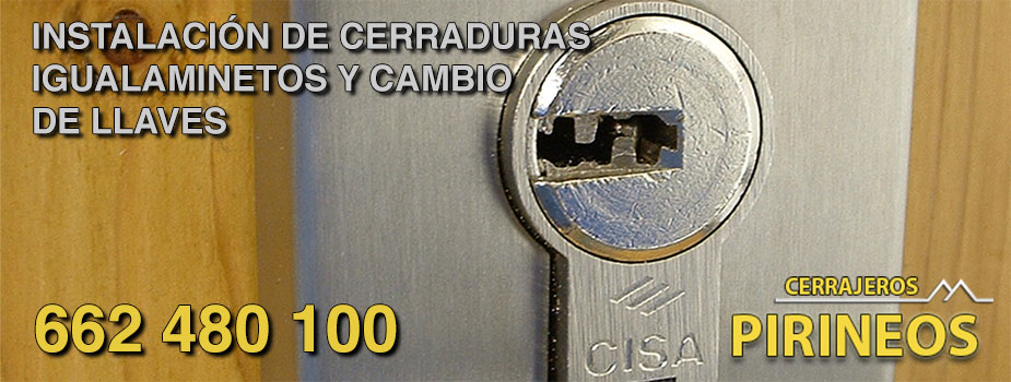 Instalación y cambio de llaves y cerradura